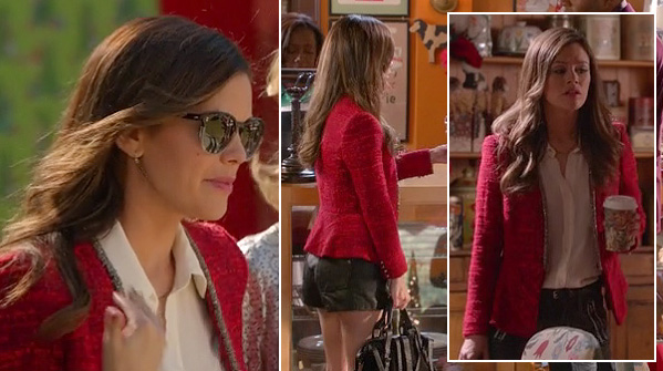 zoe-hart-sunglasses-red-jacket-short